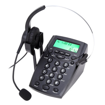 2016 New HT500 Headset Telephone Desk Phone Headphones Headset Hands-free Call Center Noise Cancellation Monaural with Backlight