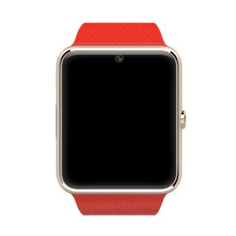 Harga Smart Watch GT08 Clock Sync Notifier Support Sim Card Bluetooth Connectivity iphone Android Phone Smartwatch Watch(Red) - intl