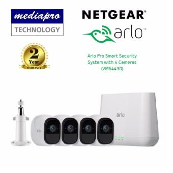 Harga Netgear VMS4430 Arlo Pro Smart Security System with 4 Wire-Free Cameras