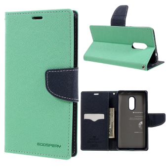 Harga MERCURY GOOSPERY Diary Leather Cover Card Holder for Xiaomi Redmi Note 4 - Cyan - intl