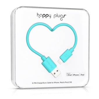 Harga Happy Plugs Lightning to USB Charge/ Sync Cable (2.0m) Turquoise