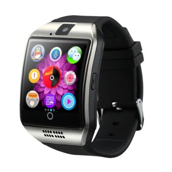 "Harga Q18 1.54"" Curved Screen MTK6260A Bluetooth 3.0 SIM Card Smart Watch for Android & iOS - intl"