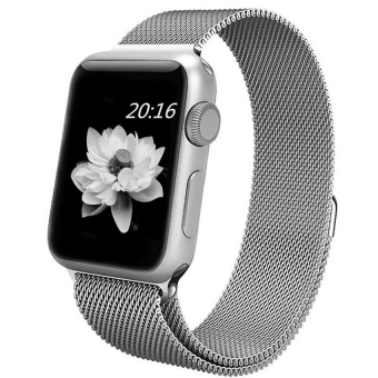top4cus Milanese Magnetic Loop Stainless Steel Strap Watch Bands For Apple iWatch Series 1 and 2 -- 38MM(Silver)