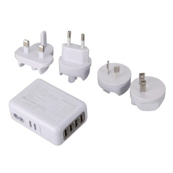 2.1A 4 USB Port Universal Portable Travel AC Plug Home Wall Power Charger - intl