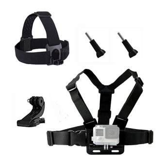 Chest Head Belt Mount For Gopro Hero 5 4 3 2 accessories Set SJCAMSJ4000 Action Camera Go pro J mount for Head Harness Strap - intl Price in Singapore