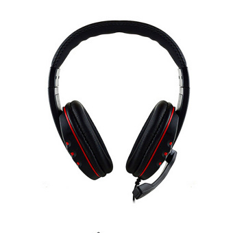 Harga 3.5mm Gamer Over-ear Gaming Headphon with Mic Stereo Bass for ps4 (Black)