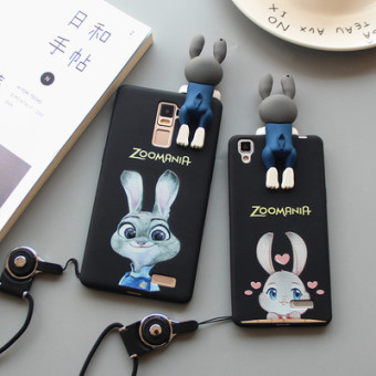 Harga OPPO judy r7s R7 papa rabbit stereo phone shell silicone Case cartoon rabbit whole package R7plus couple models