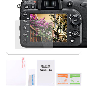 Harga DBK Self-adhesive Toughened Glass Protection Screen Optical Glasses LCD Screen Protector For Nikon D7100 D7200 Outdoorfree - intl