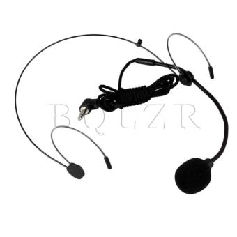 Harga EY-528B 3.5mm L Type Plug Headset Microphones Black