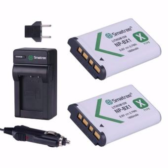 Harga Smatree Replacement Battery(2-pack) + Battery Charger for Sony NP-BX1, NP-BX1/M8