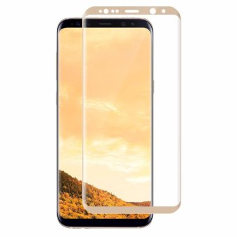 Harga Galaxy S8 3D Tempered Glass Screen Protector, Full Coverage Screen Protector for Samsung Galaxy S8 (Gold) - intl