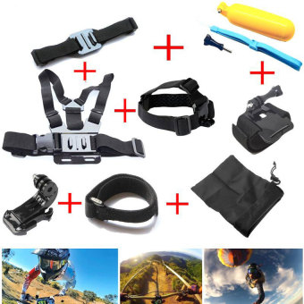 Gopro Accessories Chest Head Strap Monopod Floating Bobber Mountfor Go pro Hero 4 3+2 1 xiaomi yi action cam sj4000 sj7000 Price in Singapore