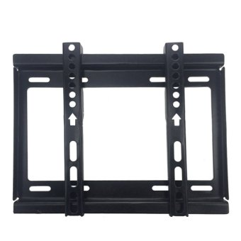 Harga 10.43 x 8.66inches TV Bracket Max Load-bearing 55.12lb Home Office Entertainment Places TV Rack Wall Mount for 14-42inches LCD LED Plasma TVs Flat Panel Display Screen TV Black - intl