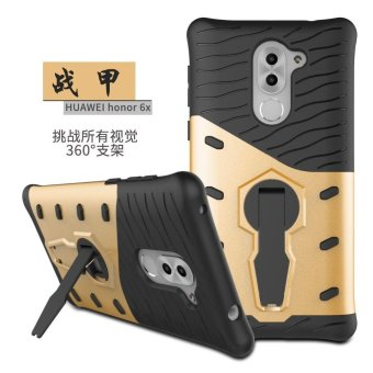 Harga Heavy Duty Shockproof Dual Layer Hybrid Armor Defender Full Body Protective Cover with 360 Degree Rotating Kickstand Case for Huawei Honor 6x (2016) - intl