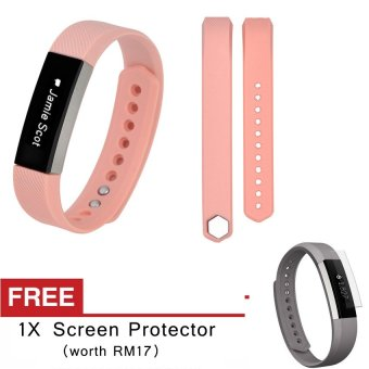 Harga Awinner OEM-Large Size Silicone Watch band Wrist Strap For Fitbit Alta- (kaqi) Free Screen Protector (5-PCS)