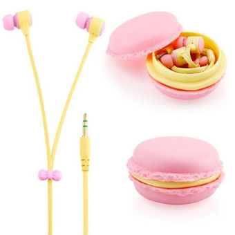 Harga Mobile Phone Accessories Bread Boxes Headsets In-ear Earphone With Case/Mic(Buff) - intl