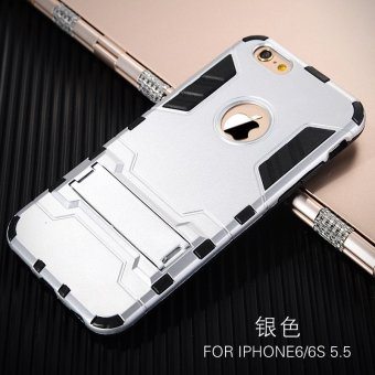 Harga Apple s iphone6 phone shell drop resistance protective sleeve ultrathin three anti phone shell mobile phone sets of silicone shell cover plus