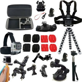 Harga For Gopro Accessories Case Monopod Tripod Float Bobber Chestheadstrap Go pro 3 Gopro Hero 4 3 Xiaoyi mi Camera Accessories - intl