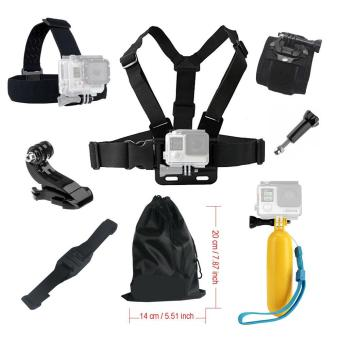 For Gopro hero 5/4/3/2/1Accessories set Floating Chest Head Hand Helmet Mount strap for Go pro SJCAM SJ4000 SJ5000X Action camera - intl Price in Singapore