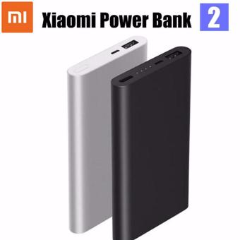 Harga Original Xiaomi Mi 10000mAh Power Bank 2 Quick Charge External Battery (Black)(Black 5001-10000mAh)