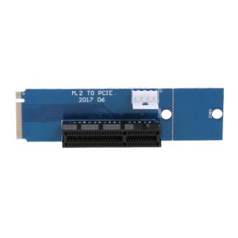 M.2 NGFF SSD to PCI-E 4X Converter Adapter Card with Power Cable(Blue) - intl