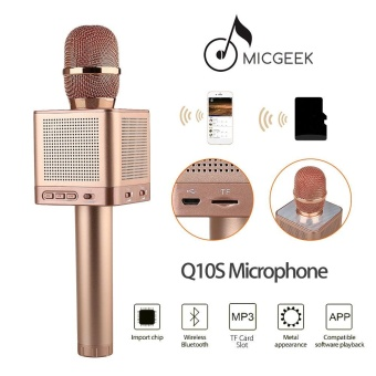 MicGeek Q10S Wireless Microphone Bluetooth Speaker MP3 Player For smartphone - intl