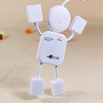 Mini Humanoid Hub USB Splitter 4 Connectors USB Hub - intl