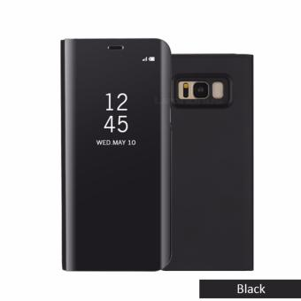Mirror Case Smart Clear View Flip Stand Cover  for Samsung Galaxy Note 8 (Black)