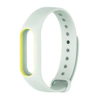 OSMAN Wrist Strap For Mi Band 2 Fluorescent Smartband Accessory For Xiaomi Band 2 Light Green