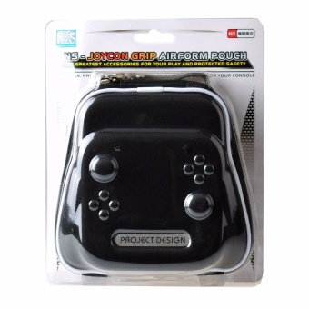 Project Design Joy-Con Grip Airfoam Protective Storage Pouch Case Bag for Nintendo Switch Black - intl