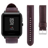 Replacement Top Leather Watch Band Strap for Huami Amazfit Bip BIT PACE Lite Youth Smart Watch - intl - 4