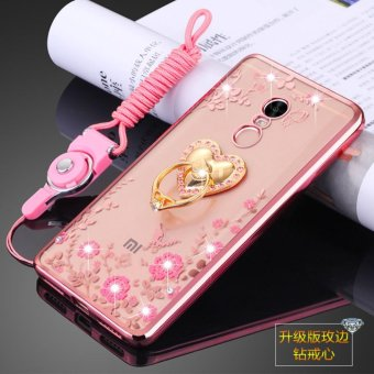 Secret Garden Diamond TPU Back Cover Protection Case For Xiaomi Redmi Note 4 (Love Rose Gold) - intl