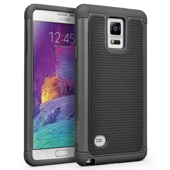 Shockproof Hybrid Rubber Dual Layer Armor Defender Protective Case Cover for Samsung Galaxy Note 4 -