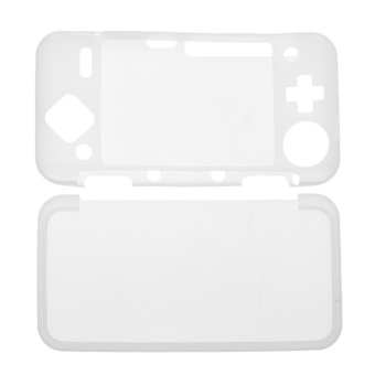 Silicone Cover Skin Case for New Nintendo 2DS XL /2DS LL Game Console(White) - intl