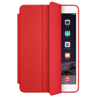 Slim Stand Leather Back Cover for iPad mini 1 2 3 Retina (Red)