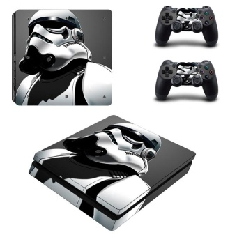 Star War Vinyl Skin Sticker for Sony Playstation 4 Slim PS4 Slim Console & 2pcs Controller
