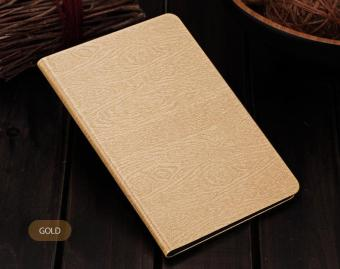 Tree Texture Leather Cases for iPad Mini 4 with Smart Cover (Gold)