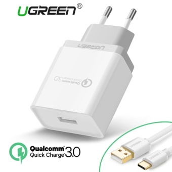 UGREEN Qualcomm Certified Quick Charge 3.0 18W USB Wall Charger Phone Charger with free Type C
