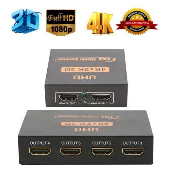 UHD 3D 4K*2K Full HD 1080p HDMI Splitter 1X4/1X2 4/2 Port Hub Repeater Amplifier - intl