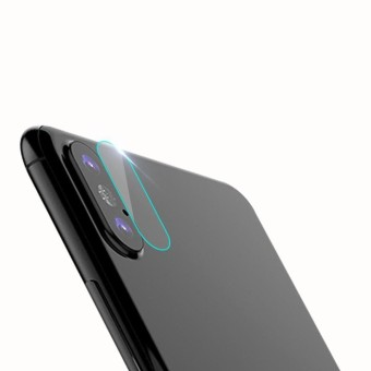 Ultra Thin HD Tempered Glass Back Camera Lens Clear Protector For iPhone X - intl