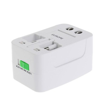Universal Travel AC Power Charger Adapter Plug Converter 2 USB Port AU UK US EU - intl