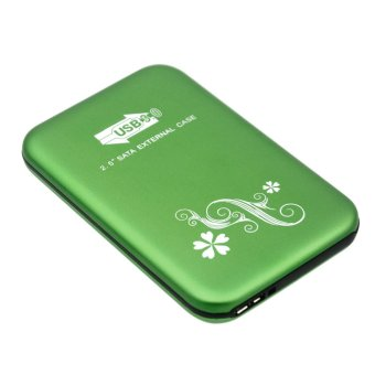 USB 3.0 2.5 Inch SATA External HDD HD Hard Disk Drive EnclosureCover Case Green
