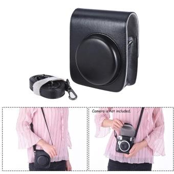 Vintage PU Protective Camera Case Bag Pouch Cover Protector w/ Strap for Fujifilm Instax Mini