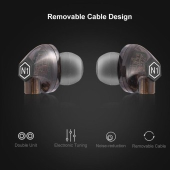 VJJB -N1 High Resolution Heavy Bass In-ear Headphones with Mic Replacement Cable Mic In-line Control - intl
