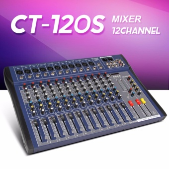 Xtuga CT120S-USB 12 Channels Mic Line Audio Mixer Mixing Console USB XLR Input 3-band EQ 48V Phantom Power with Power Adapter - intl