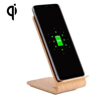 YoLike A8 10W QI Wireless Standard Stand Light Wood Texture Charger For Samsung Galaxy S8 / S8 + / S7 Edge / S7 / S6 / S6 Edge / S6 Edge + / Note 5 - intl