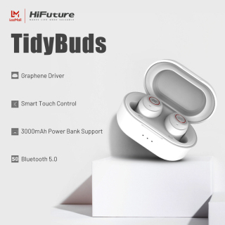 HiFuture TidyBuds True Wireless Earphone Bluetooth 5.0 High Quality Deep Bass Earphone 8 Hours Playback and 25 Hours Rechargeable Playback Use IPX5 Waterproof Smart Touch Sensor Control Compatible with Android IOS and Windows thumbnail