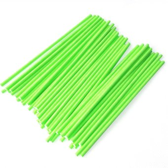 100 Pcs DIY Lollipop Lolly Sugar-loaf Chocolate Cake Pops Paper Sticks Craft Stick Green