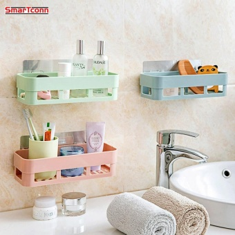 1pc Plastic Shelf Bathroom Shelf Shelf Kitchen Shelf Storage Rack Wall Holder Kitchen Holder - intl