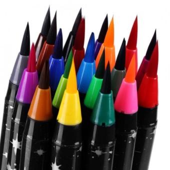 20 Colors Watercolor Brush Pens Drawing Painting Sketching Marker Pen Set Student Art Supply - intl